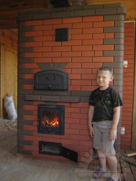 Печь для дома из кирпича с водяным отоплением своими руками